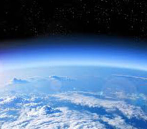 Image of the Earth's stratosphere